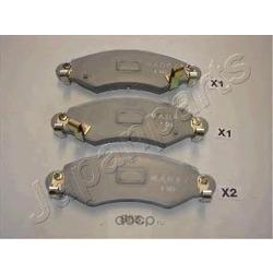 Комплект тормозных колодок, дисковый тормоз (Japanparts) PA885AF