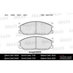 Колодки тормозные Ssangyong REXTON (GAB ) 2.7 Xdi (Miles) E100179