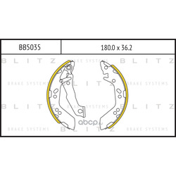 Колодки тормозные барабанные (Blitz) BB5035