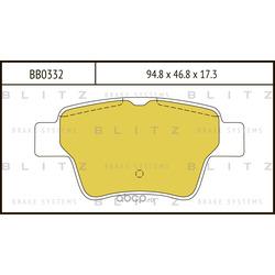 Колодки тормозные дисковые (Blitz) BB0332