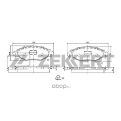 Колодки торм.диск. (Zekkert) BS1034