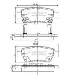 Комплект тормозных колодок, дисковый тормоз (Nipparts) N3614019