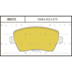 Колодки тормозные дисковые (Blitz) BB0292