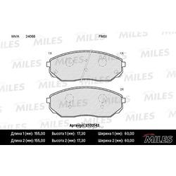 Колодки тормозные KIA SORENTO 02- передние (Miles) E100143