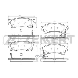 Колодки торм. диск. перед Mazda 626 IV V 91- Premacy (CP) 99- Xedos 6 (CA) 92- (Zekkert) BS2036