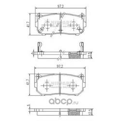 Комплект тормозных колодок, дисковый тормоз (Nipparts) J3610301