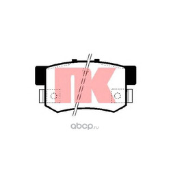 Комплект тормозных колодок, дисковый тормоз (Nk) 229980