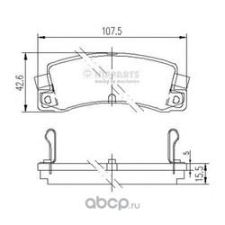Комплект тормозных колодок, дисковый тормоз (Nipparts) J3612008