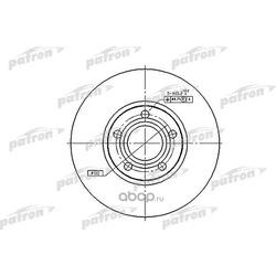 Диск тормозной задний (PATRON) PBD2651