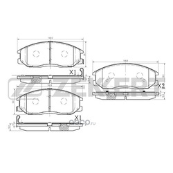 Колодки торм.диск. Hyundai Starex/H-1 02- Santa Fe I (SM) 01- Trajet (FO) 00- FR (Zekkert) BS1794