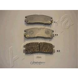 Комплект тормозных колодок, дисковый тормоз (Ashika) 5105594