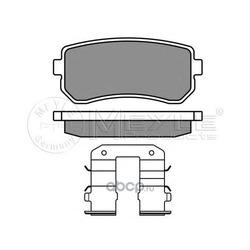Комплект тормозных колодок, дисковый тормоз (Meyle) 0252432015W