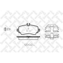 Комплект тормозных колодок (Stellox) 661000BSX