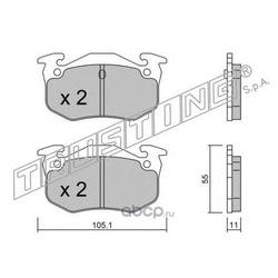 Комплект тормозных колодок, дисковый тормоз (Trusting) 0400