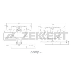 Колодки торм. диск. зад BMW 3 (E46) 00- X3 (E83) 04- X5 (E53) 00- (Zekkert) BS1137