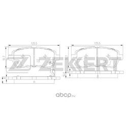 Колодки торм. диск. перед Ford Fiesta V VI 08- Mazda 2 II 07- Suzuki Swift V 10- (Zekkert) BS1130