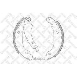 Комплект тормозных колодок (Stellox) 085100SX