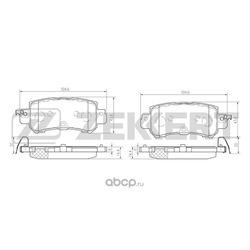 Колодки тормозные дисковые зад. Mazda CX-5 (KE) 11- (Zekkert) BS1246