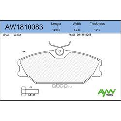 Колодки тормозные передние (AYWIparts) AW1810083