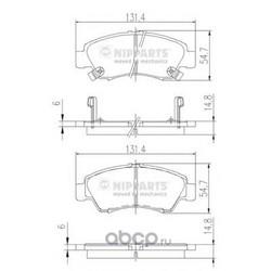 Комплект тормозных колодок, дисковый тормоз (Nipparts) J3604034