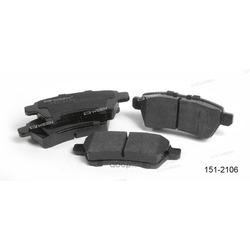 Тормозные колодки дисковые задние (Ween) 1512106