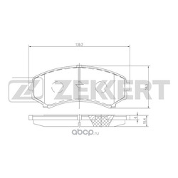 Колодки торм. диск. перед Mitsubishi Pajero III 00- Pajero IV 06- (Zekkert) BS1140