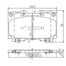 Комплект тормозных колодок, дисковый тормоз (Nipparts) J3602097