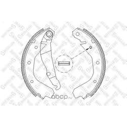 Комплект тормозных колодок (Stellox) 099100SX