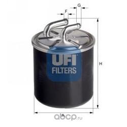 Топливный фильтр (UFI) 2443600
