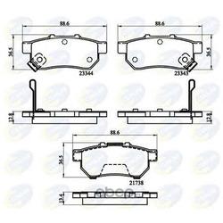 Комплект тормозных колодок (Comline) CBP32146
