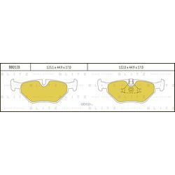 Колодки тормозные дисковые (Blitz) BB0128