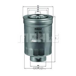 Топливный фильтр (Mahle/Knecht) KC83D