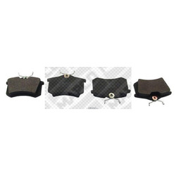 Комплект тормозных колодок, дисковый тормоз (Mapco) 6492