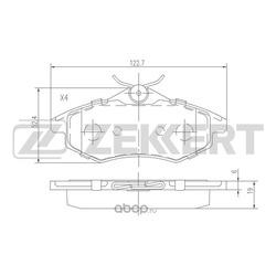 Колодки торм. диск. перед Citroen C2 02- C3 I II 02- (Zekkert) BS1235