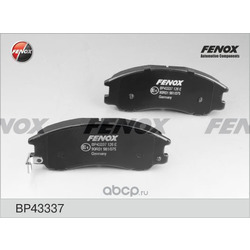 Комплект тормозных колодок, дисковый тормоз (FENOX) BP43337