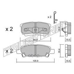 Комплект тормозных колодок, дисковый тормоз (Trusting) 7530