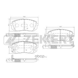 Комплект тормозных колодок, дисковый тормоз (Zekkert) BS1791