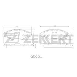 Колодки торм. диск. перед Citroen Xsara Break 97- Renault Kangoo I 97- (Zekkert) BS1443