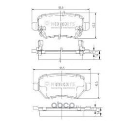 Комплект тормозных колодок, дисковый тормоз (Nipparts) N3610310