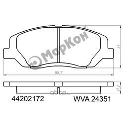 Купить передние тормозные колодки на Киа Соренто 2014 (Hyundai-KIA) 581012WA70