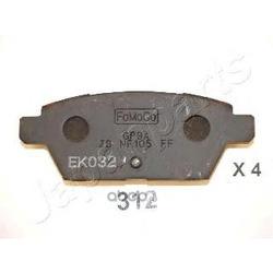 Комплект тормозных колодок, дисковый тормоз (Japanparts) PP312AF