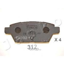 Комплект тормозных колодок, дисковый тормоз (JAPKO) 51312