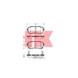 Комплект тормозных колодок, дисковый тормоз (Nk) 223521
