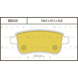Колодки тормозные дисковые (Blitz) BB0428