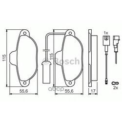 Комплект тормозных колодок, дисковый тормоз (Bosch) 0986424379