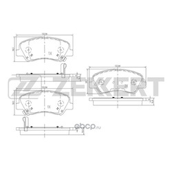 Колодки торм.диск. Hyundai Accent 11- Solaris 10-/ Kia Rio 11- FR (Zekkert) BS1910