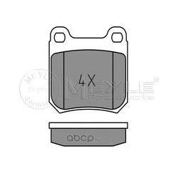 Комплект тормозных колодок, дисковый тормоз (Meyle) 0252105015