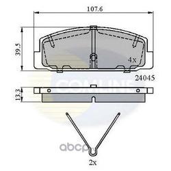 Комплект тормозных колодок, дисковый тормоз (Comline) CBP0986