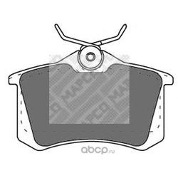 Комплект тормозных колодок, дисковый тормоз (Mapco) 6302