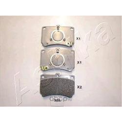 Комплект тормозных колодок, дисковый тормоз (Ashika) 5003326